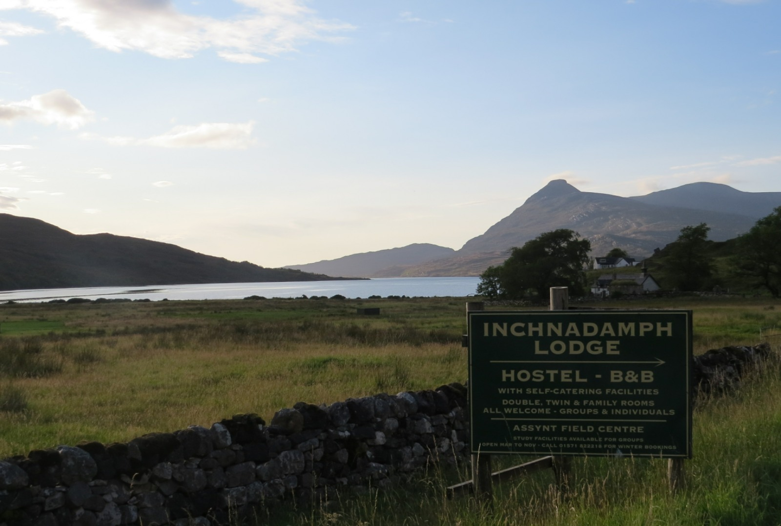 View from Inchnadamph Lodge