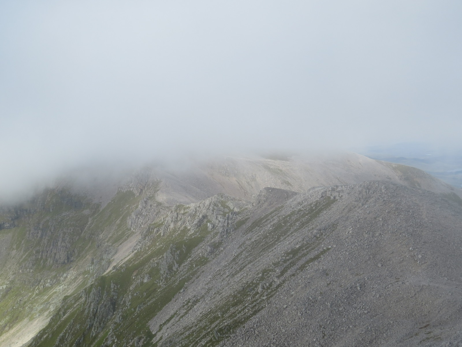 Conival in low cloud