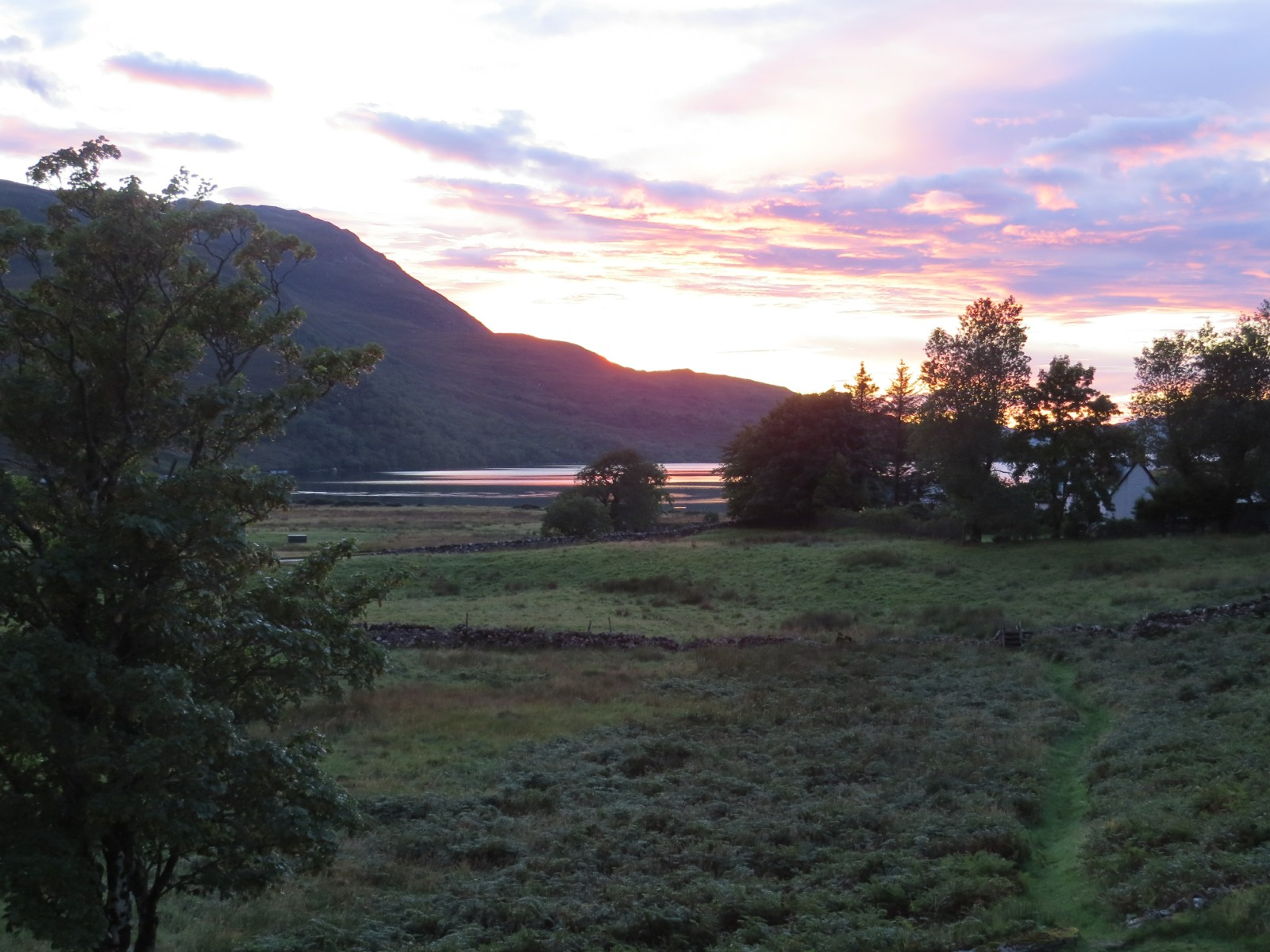 Sunset at Inchnadamph